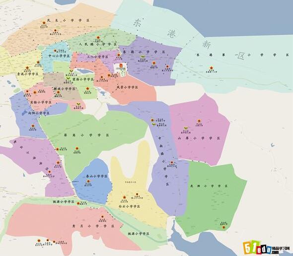 大连市六个区分布图_大连市区地图