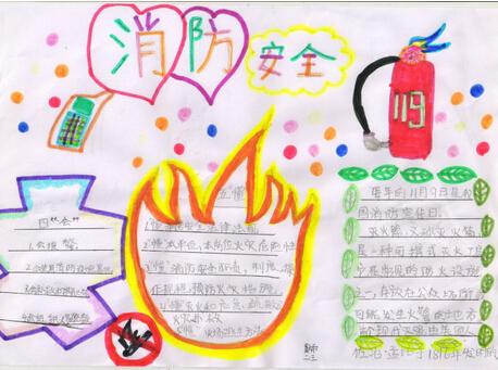 小学生消防安全手抄报设计 消防安全
