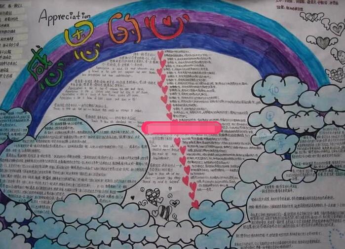 小学生感恩手抄报主题:热爱,感恩的心