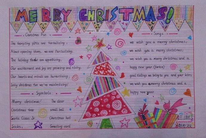 【关于圣诞节手抄报主题:Merry Christmas】-2016年圣诞节英语手抄