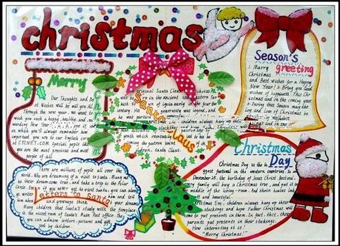 【2016年圣诞节英语手抄报:Christmas】-2016年圣诞节英语手抄报一