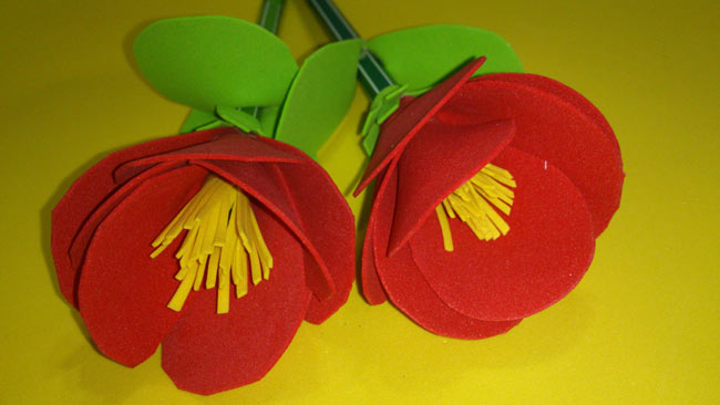 海绵纸粘贴画图片大全花