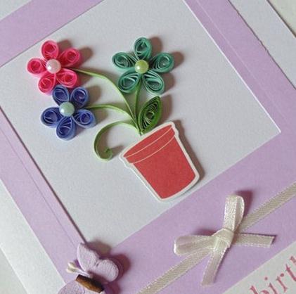 妇女节衍纸手工贺卡制作方法