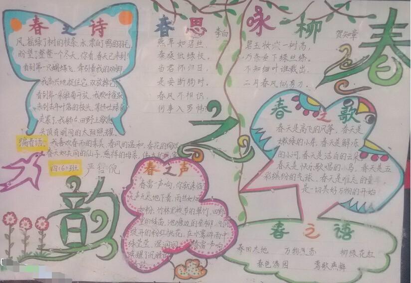 春天的手抄报设计:春之韵