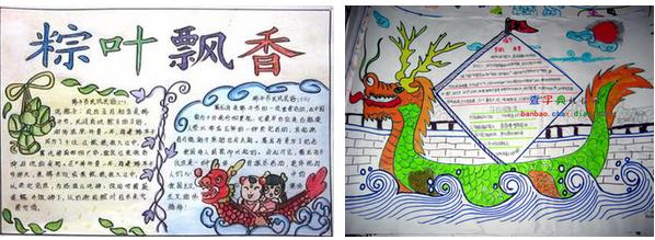 关于端午节的英语手抄报精选:dragon boat festival   》》》