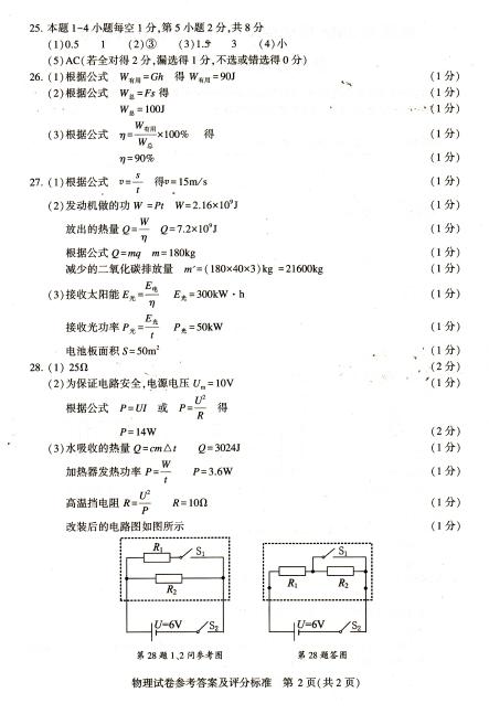 2016镇江物理中考试题