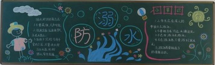 夏天关于防溺水的黑板报精选:防溺水