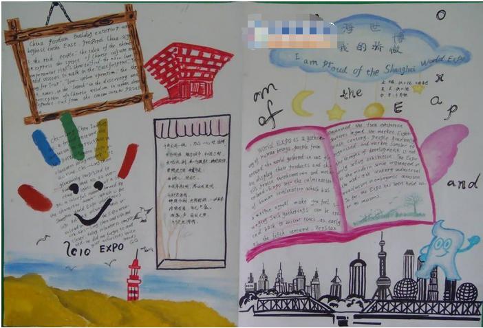 有关小学生暑假英语手抄报:暑假之旅_手抄报_精品学习