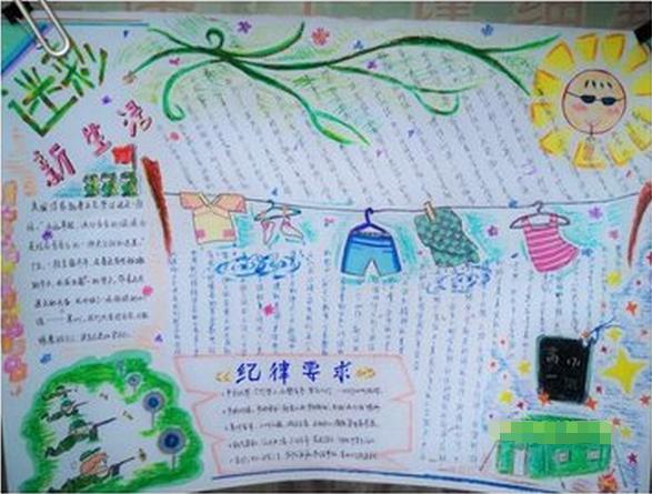 精选小学生军训手抄报设计:迷彩新生活
