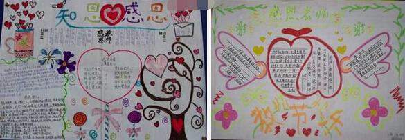 2016年感恩教师节手抄报资料:感恩老师