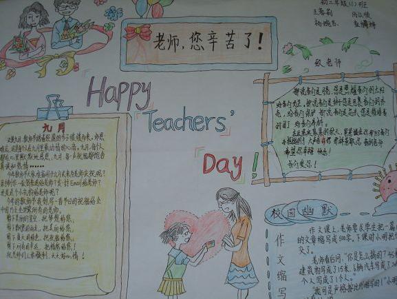 有关教师节快乐手抄报设计:老师,您辛苦了