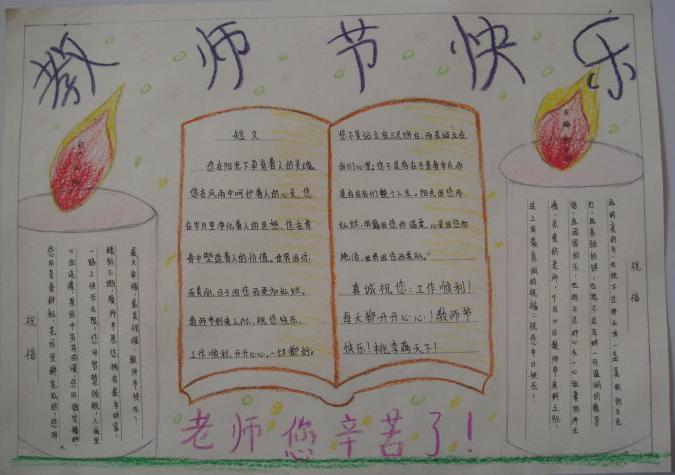 教师节快乐手抄报设计图片:教师节快乐