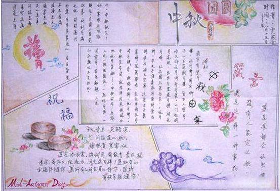 精选中秋节手抄报素材 中秋团圆
