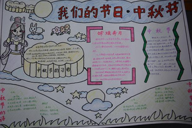 精选中秋节手抄报设计 我们的节日 中秋节