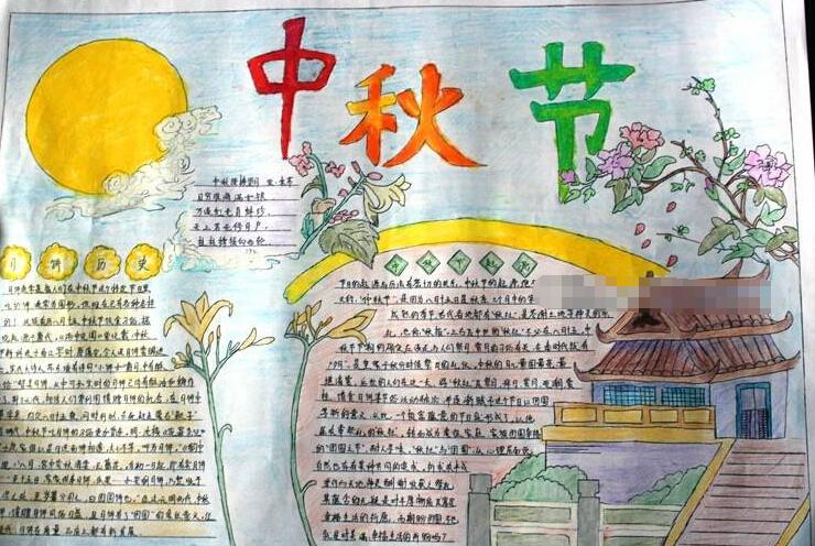 有关中秋节手抄报设计素材:中秋节