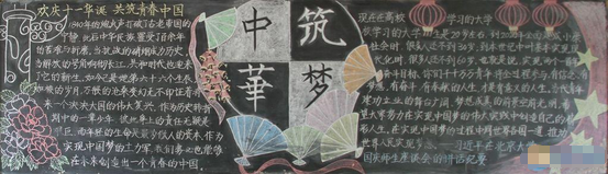 2016年国庆节黑板报素材:中华筑梦