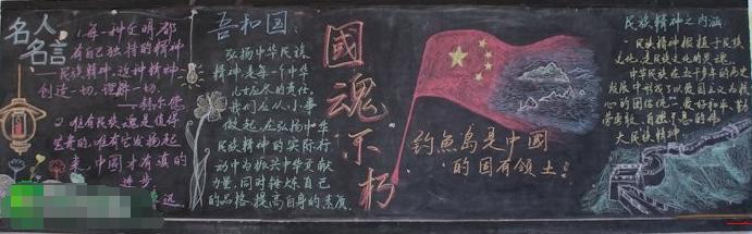 小学生国庆节黑板报图片:国魂不朽