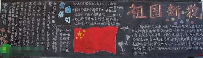 精选国庆节黑板报设计:祖国新貌
