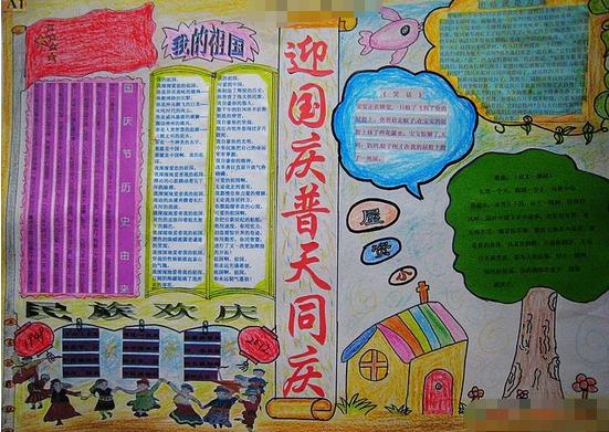 关于国庆节手抄报内容:爱祖国爱家乡  国庆节手抄报精选素材:爱我中华