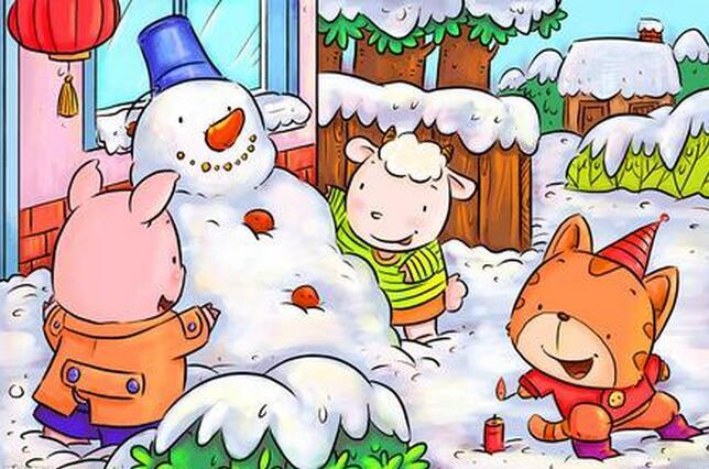 下雪的乐趣~2016年小学生描写我爱堆雪人的作文图片