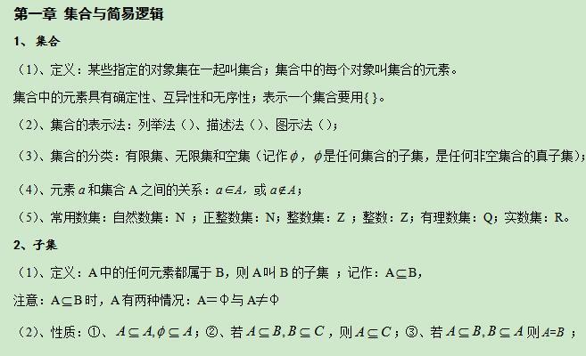 2017年1月广东高中会考数学易考知识点