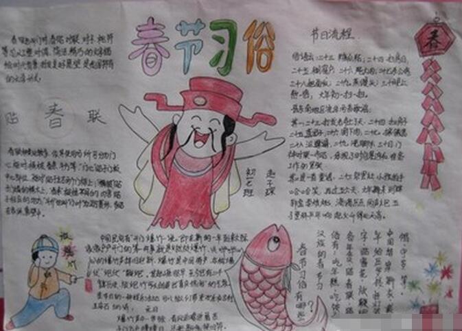 有关春节手抄报素材:春节习俗图片