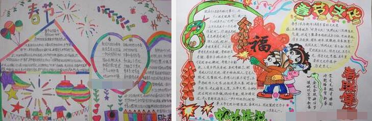 作文 手抄报  【春节习俗】以前过年,只是和大人凑热闹.