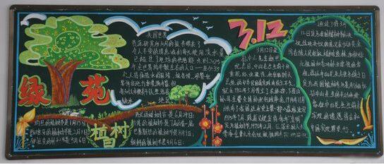 小学生植树节黑板报分享给大家