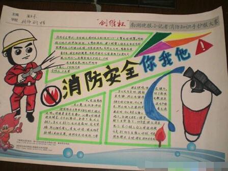 消防小报 >>>>小学生消防安全手抄报设计:小小消防员 >>>>小学生消防