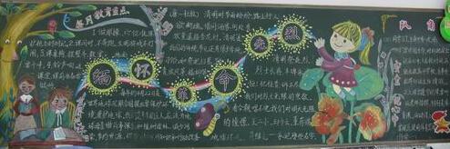 有关清明节怀思的黑板报设计图