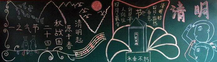 清明节 同学们, 清明节黑板报版面设计图为大家介绍完毕了,精品学习网