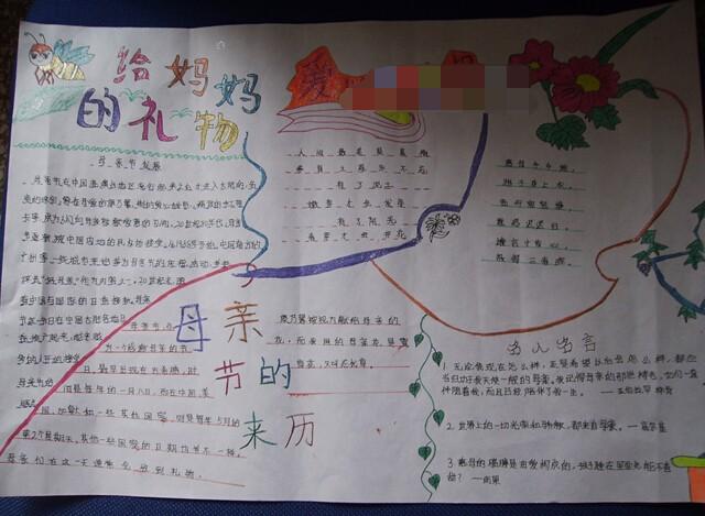 2017年母亲节手抄报资料分享【母亲节手抄报】