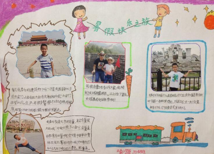 小学生暑假见闻手抄报参考(暑假生活进行时)图片