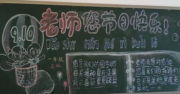 九月十日教师节黑板报展示(教师节快乐)