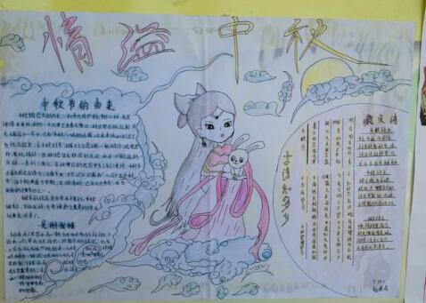 小学生八月十五中秋节手抄报展示│快收藏吧