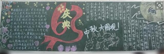 小学生中秋节黑板报设计:中秋大围观