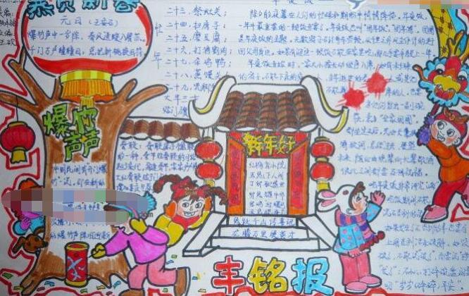 春节习俗手抄报图片:春节的民俗文化