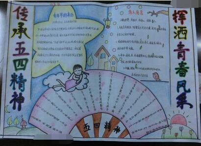 有关五四青年节手抄报设计:传承五四精神