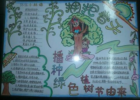 2017植树节手抄报素材:拥抱春天