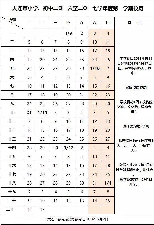 2017辽宁大连市初中生寒假放假时间:1月18日题化学人教初中版v时间图片