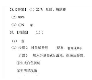 2017年广州中考化学试卷答案解析 图片版图片 30267 320x277