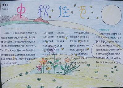 【八月十五中秋节手抄报】2017八月十五手抄报主题:中秋佳节