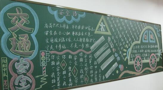 【安全教育黑板设计】小学生安全教育黑板报设计:安全伴我行