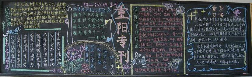 有关重阳节黑板报_有关重阳节黑板报设计:重阳节专刊