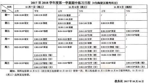 北京海淀区2017至2018录音单词中考试时间:1版人教三v单词中期年高高中英语图片