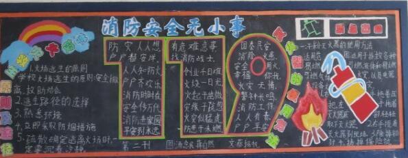 【防溺水安全黑板报素材】119消防安全黑板报素材:消防安全无小事