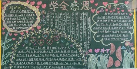 【关于感恩的黑板报图片】有关感恩的黑板报图片:学会感恩