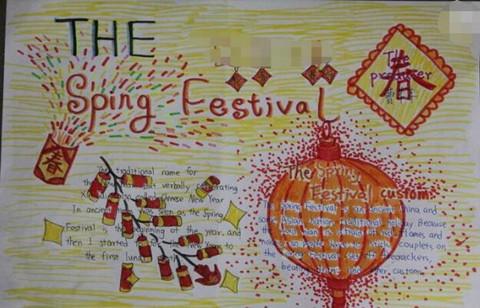 英语春节手抄报内容 2018年春节英语手抄报图片:The Spring Festival