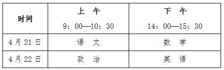 苏州大学2018年单招考试时间